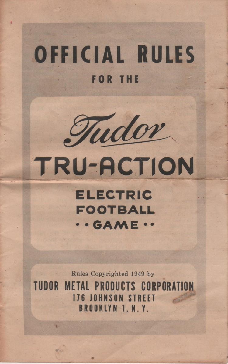 1949 Cover Tudor Rule Book