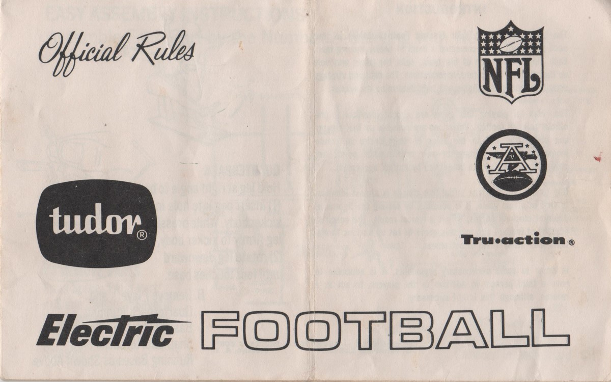 1968 69 Rule Book Cover