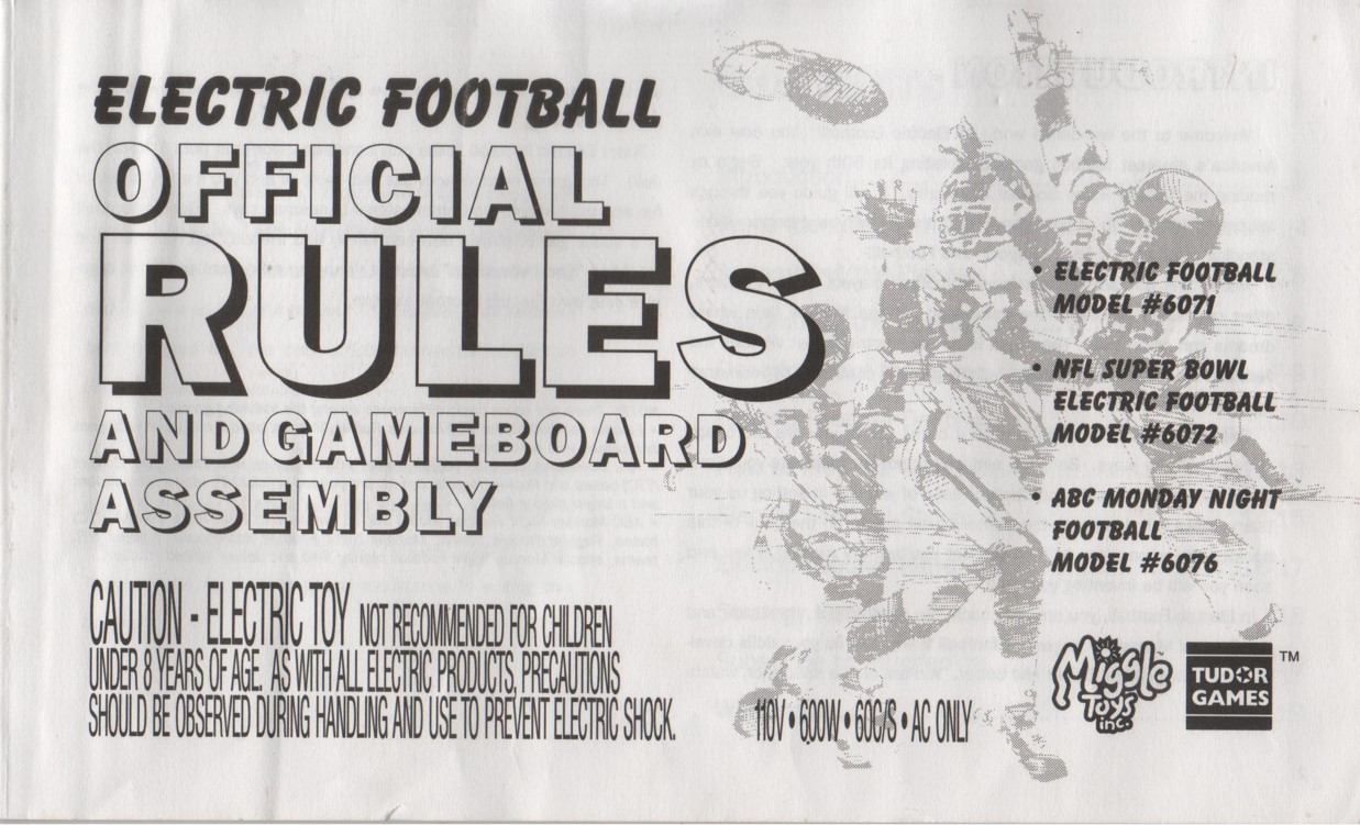 1997 Miggle Toys Rule Book Cover