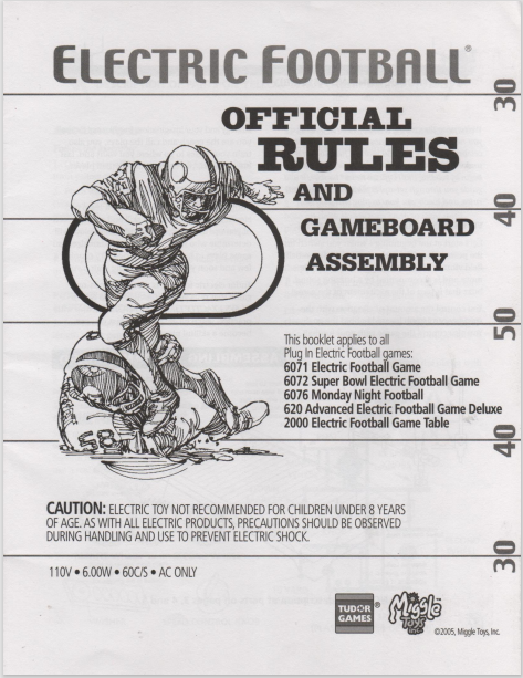 2005 Miggle Rule Book Cover