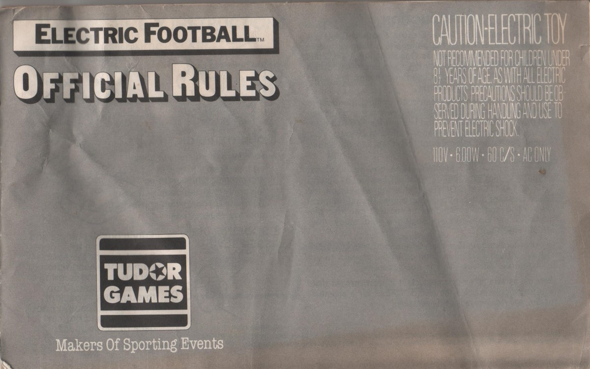 1980 Tudor Electric Football Cover