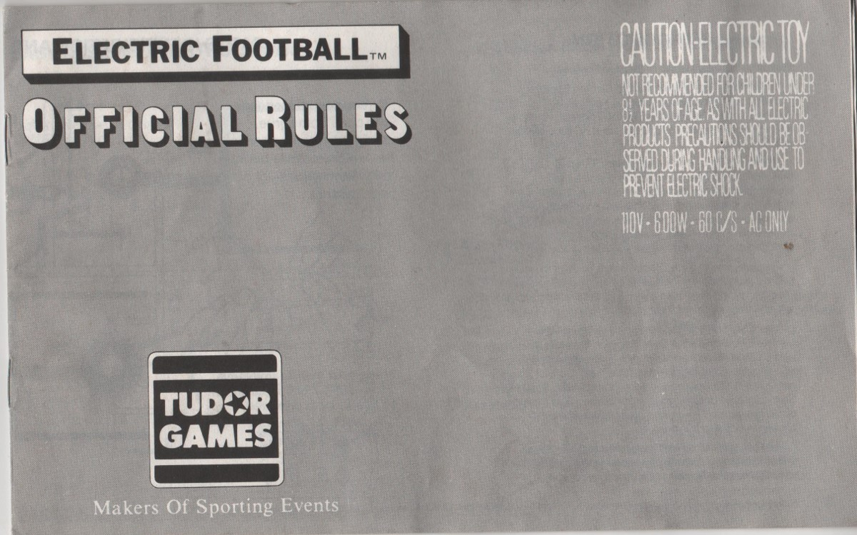 1984 Tudor Electric Football Cover