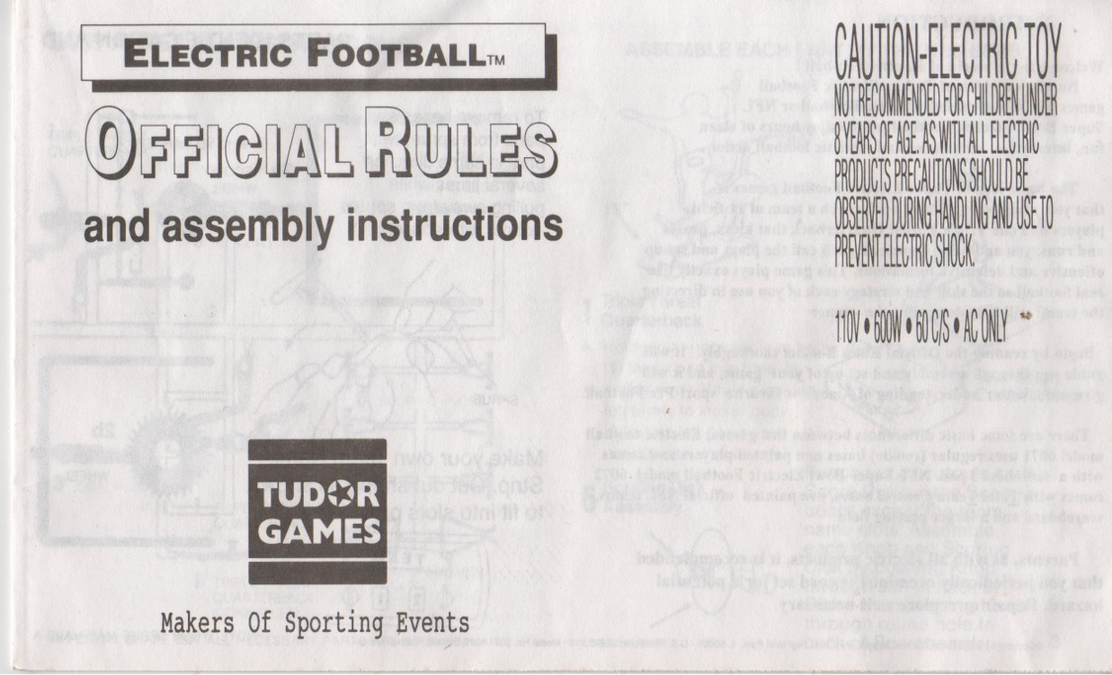 1995 Miggle Toys Rule Book Cover
